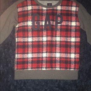 Boys plaid gap sweatshirt